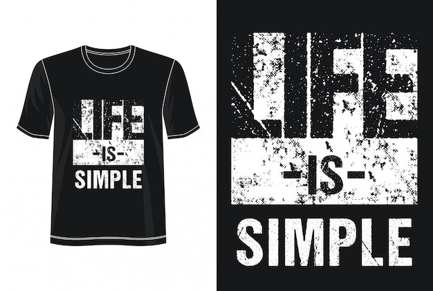 La vida es una tipografía simple para imprimir camiseta