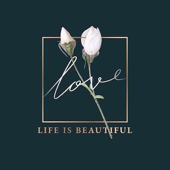 La vida floral es hermosa tarjeta de diseño