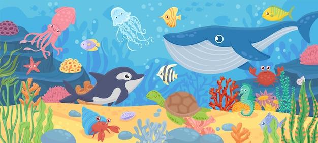 Vida submarina del océano