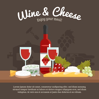 Vida de vino y queso todavía