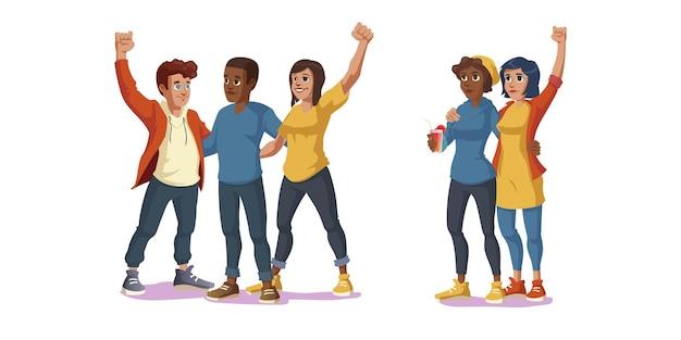Las vidas negras importan para siempre mejores amigos amistad
