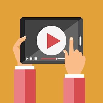Video en el icono de la tableta