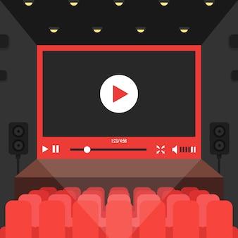 Video online en cine teatro.
