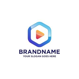 Video play logo