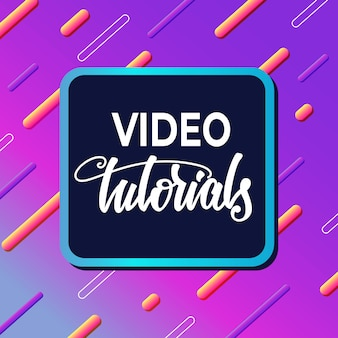 Video tutoriales de diseño de banners. ilustracion vectorial