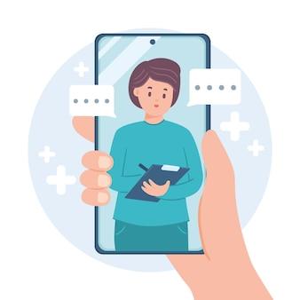 Videoconferencia con el concepto de terapeuta