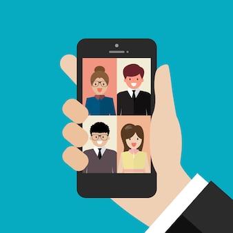 Videoconferencia desde un teléfono inteligente