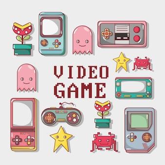 Videojuego jugar juego simulador de fondo