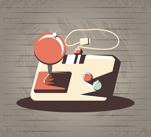 Videojuego retro con diseño de ilustración vectorial de control