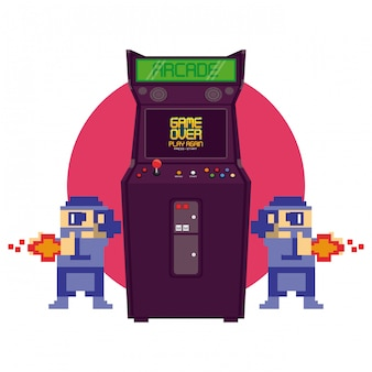 Videojuego retro maquina arcade