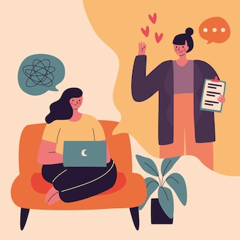 Videollamada con terapeuta