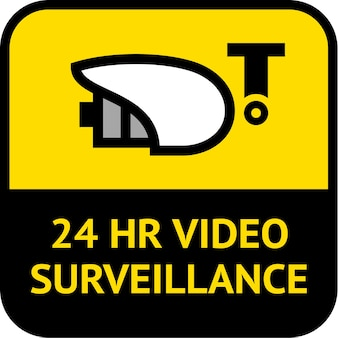 Videovigilancia, etiqueta de forma cuadrada