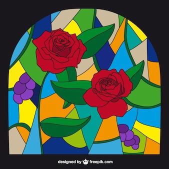 Vidrieras de estilo colorido