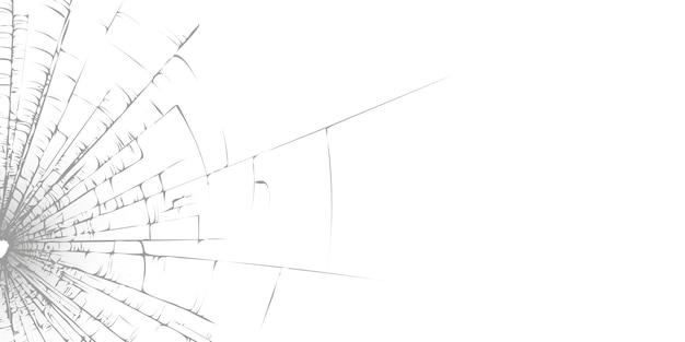 Vidrio roto blanco