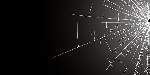 Vidrio roto negro