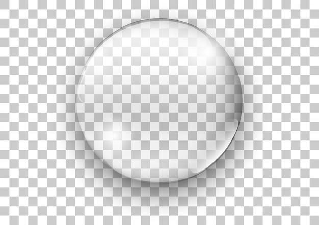 Vidrio transparente realista. burbuja de jabón de agua. ilustración vectorial