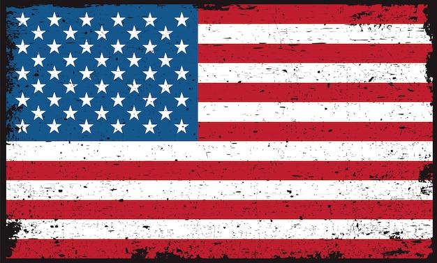 Vieja bandera americana sucia