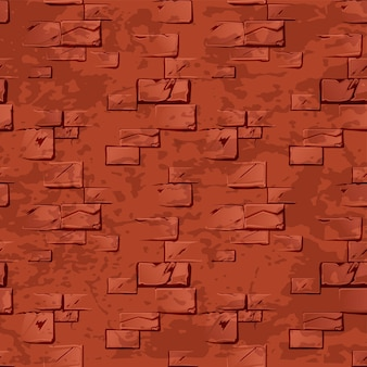 Vieja y sucia pared de ladrillo rojo.