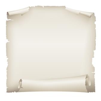 Viejo banner de desplazamiento de papel