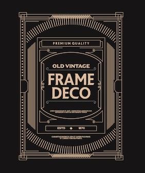 Viejo estilo vintage deco marco