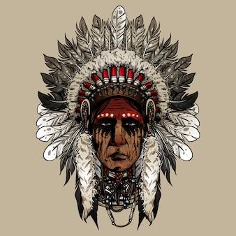 Viejo guerrero cherokee