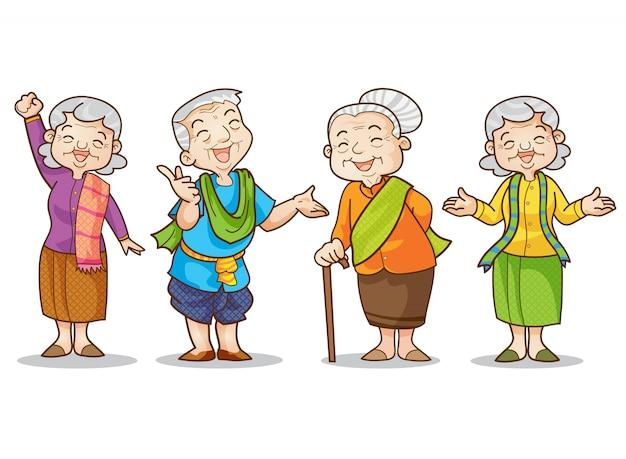 Viejo hombre y mujer