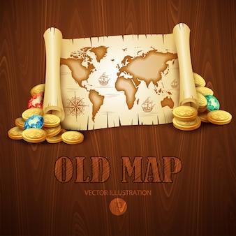 Viejo mapa ilustración