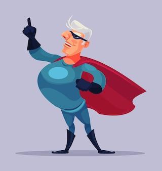 Viejo personaje de superhéroe abuelo
