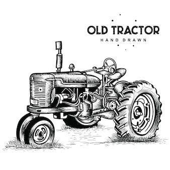 Viejo tractor oxidado