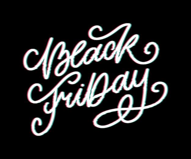 Viernes negro caligráfico