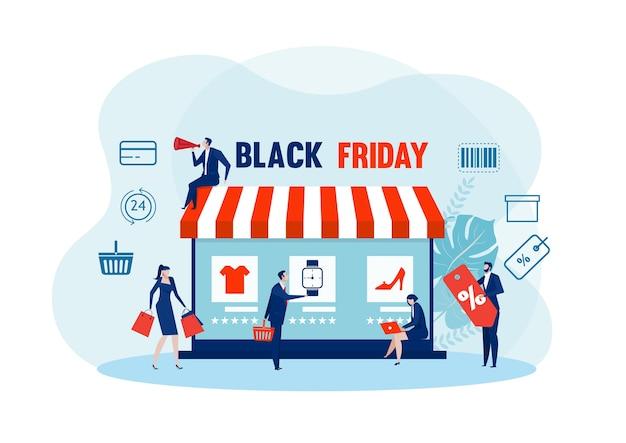 Viernes negro compras en línea. tienda de tabletas, comercio electrónico, compra de bolsos comercio electrónico en línea, compra de marketing,