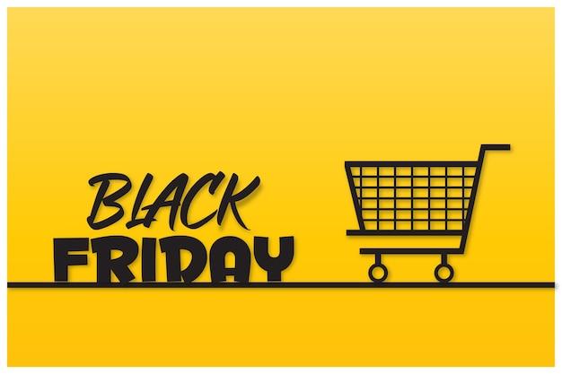 Viernes negro con diseño de carrito de compras