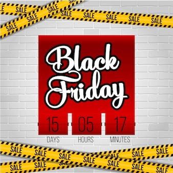 Viernes negro oferta especial venta banner.