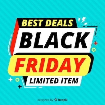 Viernes negro plano con ofertas de edición limitada