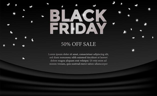 Viernes negro para la promoción de oferta de venta de negocios o comercialización
