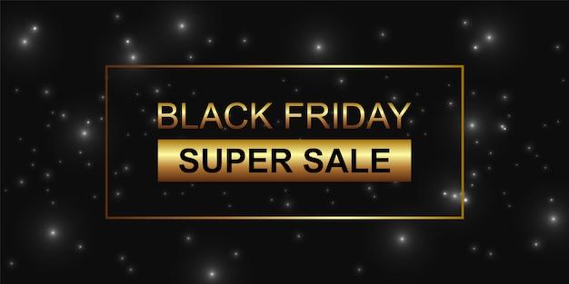 Viernes negro super venta brillo negro fondo.