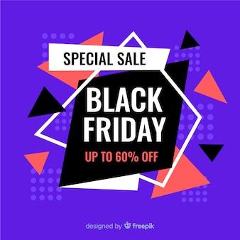 Viernes negro venta especial en diseño plano
