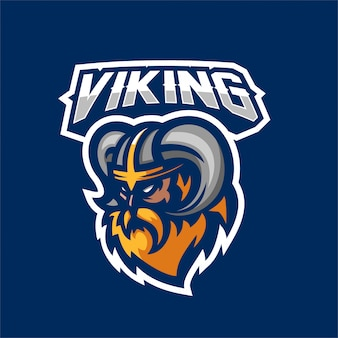 Viking gods guerrero esport gaming mascot logo template