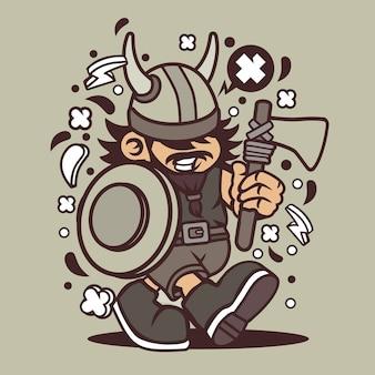 Viking kid cartoon