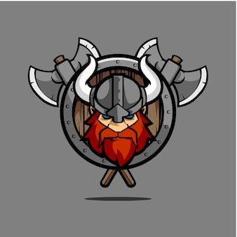 Vikingo escudo emblema redondo
