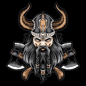 Vikingo con hacha