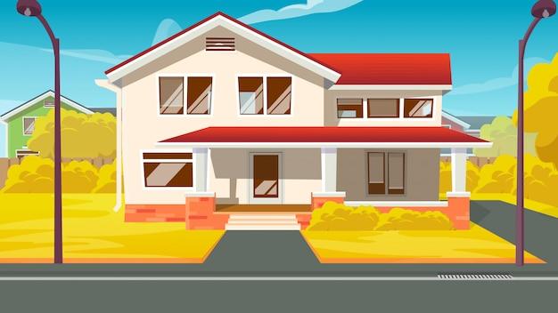 Villa de ensueño o casa rural de lujo exterior.