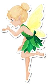 Vinilo pixerstick hermoso personaje de dibujos animados de hadas