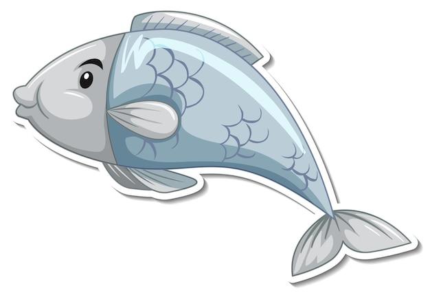 Vinilo pixerstick lindo pez de dibujos animados de animales marinos