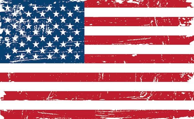 Vintage bandera americana antigua