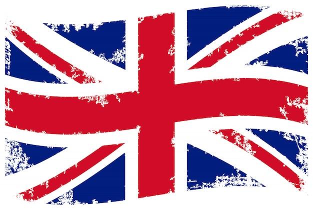 Vintage bandera del reino unido
