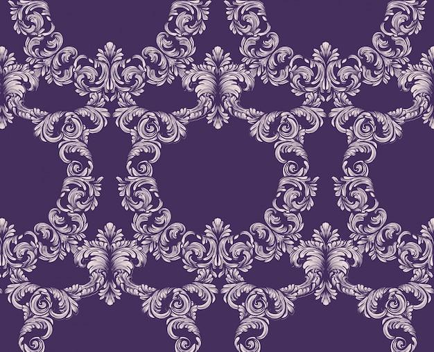 Vintage clásico patrón de fondo vector ilustraciones púrpura de color
