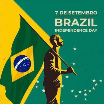 Vintage día de la independencia de brasil