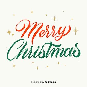 Vintage feliz navidad letras