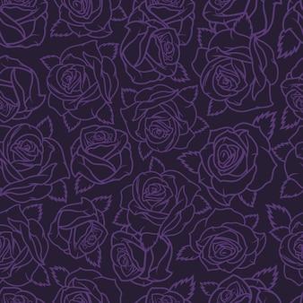 Vintage floral natural de patrones sin fisuras